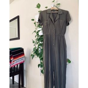 WILD FABLE ARMY GREEN JUMPSUIT